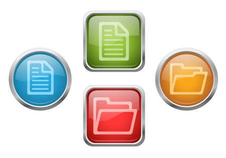 archive site: File and folder buttons