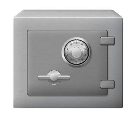 caja fuerte: ilustraci�n de la caja de acero aislado de forma segura Vectores