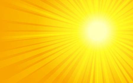 sunrays: illustration of sun with sunbeams