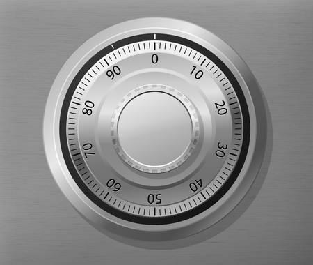illustration of combination lock wheel Stock Vector - 14067516