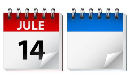 calendari: illustrazione del calendario tavolo