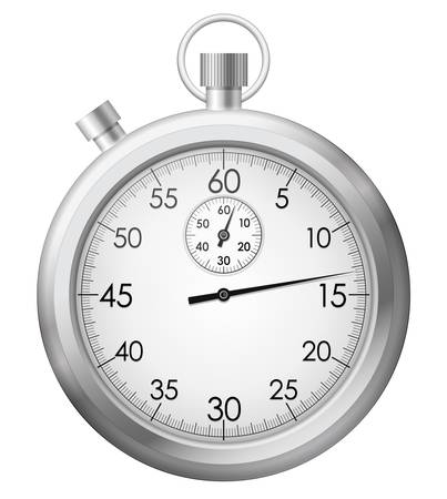 the interval: illustration of chrome stopwatch