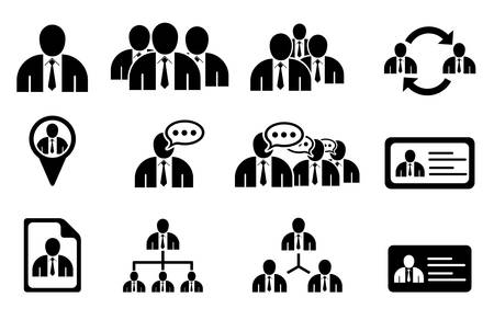 Set of management icons Stock Vector - 14291632
