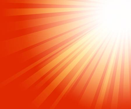 illustration of warm sun light on red background Vector