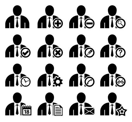 Set of management and administration icons Vector
