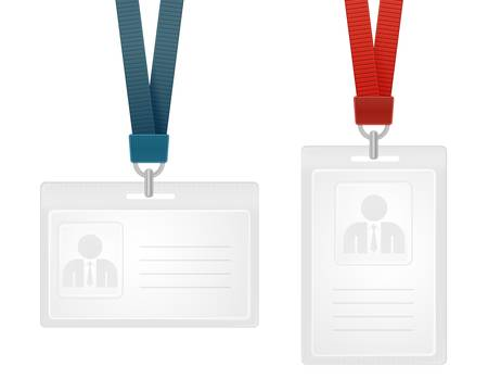 name tags:  illustration of identification cards with place for photo and text Illustration