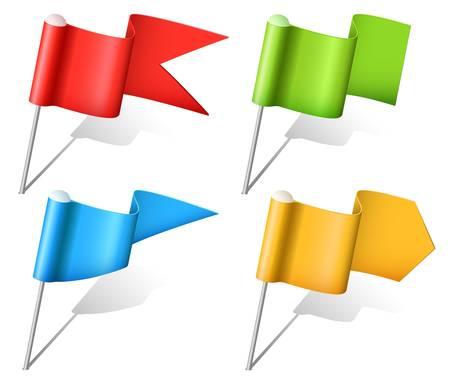 elhelyezkedés: Állítsa be a sokszínű zászló csapok