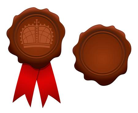 illustration of royal wax seal Vector