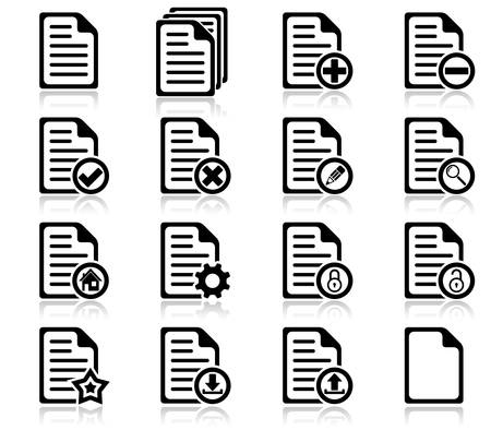 Set of file management and administration icons Stock Vector - 14958356