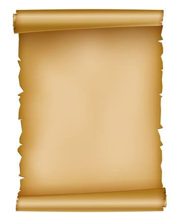 ilustración de la hoja de papel viejo Ilustración de vector