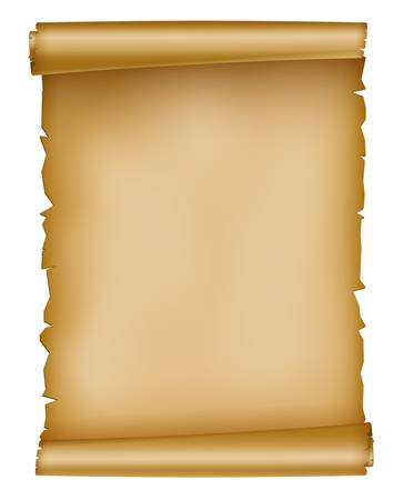 pergamino: ilustraci�n de la hoja de papel viejo