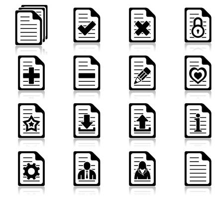 Set of file management and administration icons Vector