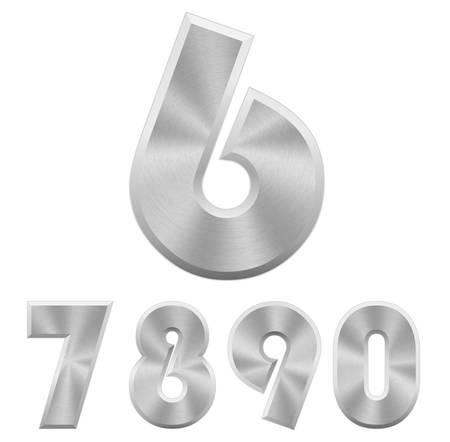 numero nueve: ilustración de cromo números metálicos.
