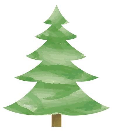 Ilustración vectorial de árbol de abeto Ilustración de vector