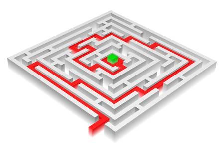 Vector illustration of solved maze Stock Vector - 16906037