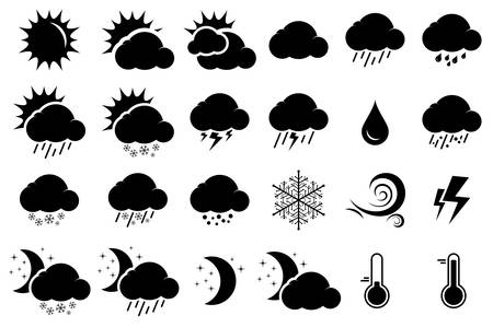 illustration of simple weather icons Stock Vector - 17155728