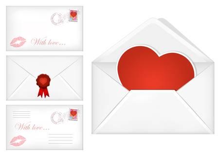 illustration of Valentine's day envelopes Stock Vector - 17566267