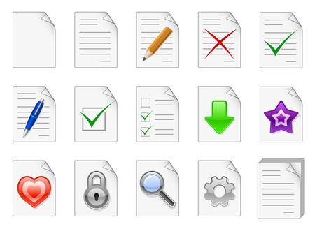 Set of file management and administration color icons Stock Vector - 17698902