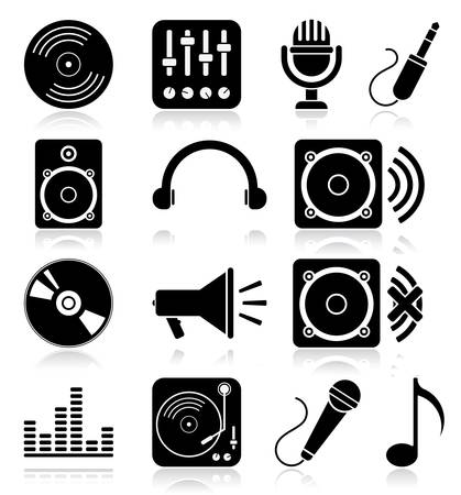 Navigation icon set.  illustration of different music web icons Vector
