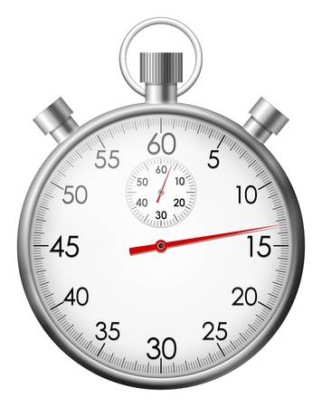 stopwatch: Vector illustration of isolated chrome stop watch