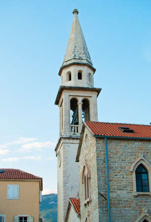 Belfry in old town of Budva  Montenegro  photo