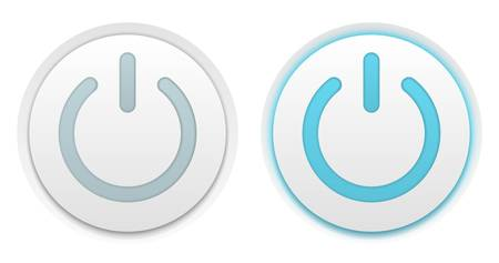energy buttons: Vector illustration of two power buttons Illustration