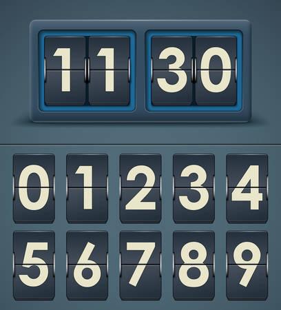Vector illustration of flip clock table