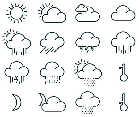 Vector illustration of simple weather icons Vector