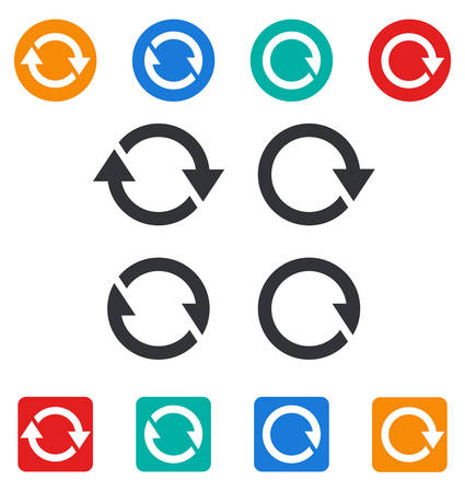 synchronize: Set of different sync icons