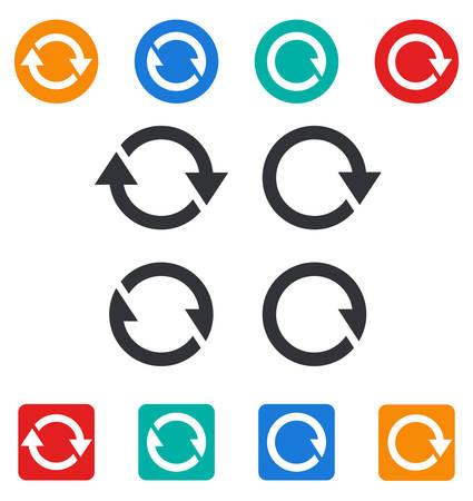 interchange: Set of different sync icons