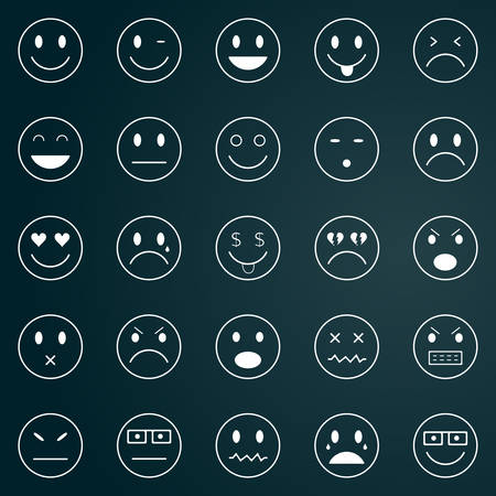 winking: Smiley icons