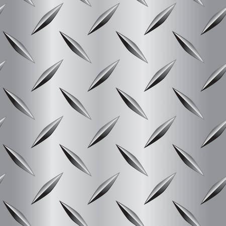 Een naadloze en herhalende diamant plaat metaal patroon.