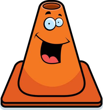 만화 오렌지 트래픽 콘 행복 하 고 웃 고입니다.