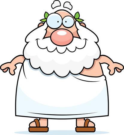 A happy cartoon Greek philosopher standing and smiling. Reklamní fotografie - 26531206