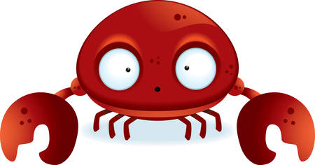 A little cartoon crab with claws. Çizim