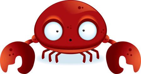 cangrejo caricatura: Un peque�o cangrejo de dibujos animados con garras.