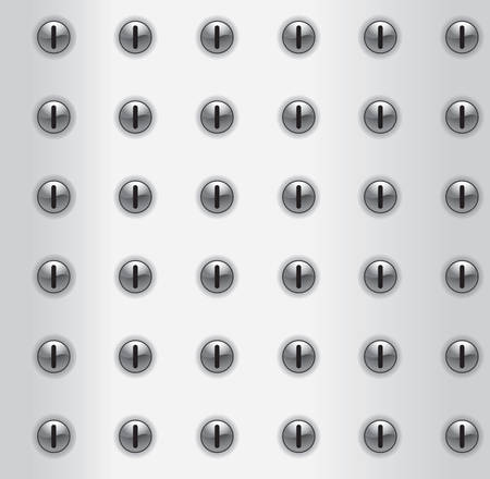 A repeating and seamless metal pattern.