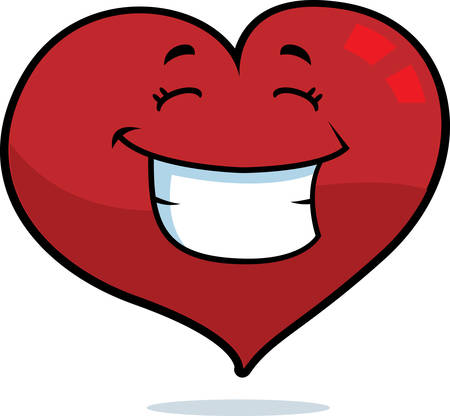 A cartoon red heart happy and smiling. Stock fotó - 41655879