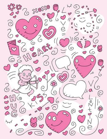 A cartoon doodle with a love theme.