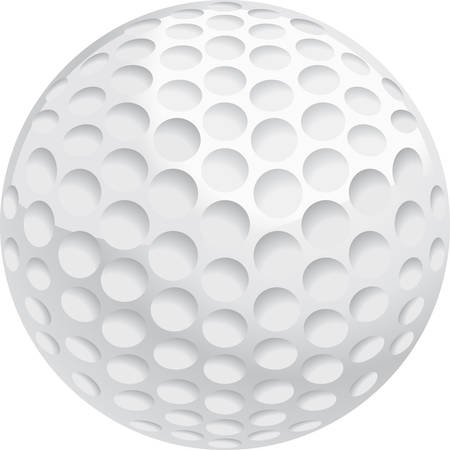 A white golf ball illustration. Çizim