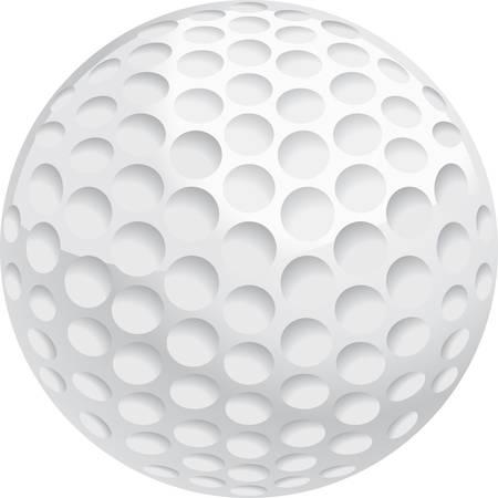 A white golf ball illustration. Stock Illustratie