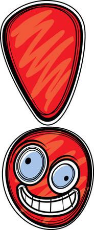 Un punto sonriente y feliz de exclamación de dibujos animados. Foto de archivo - 41845830