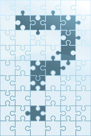 An illustration of a puzzle with a question mark.