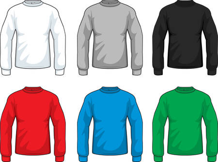 sleeve: A variety of different colored long sleeve shirts.