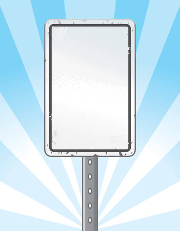 chipped: An illustration of a blank speed limit sign.