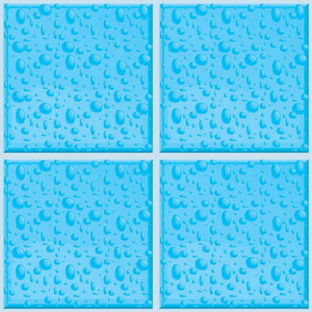 condensation: A seamless and repeating bathroom tile pattern.