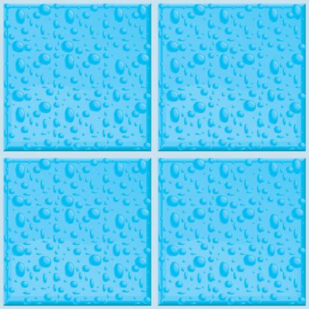 Een naadloze en het herhalen badkamer tegels patroon.