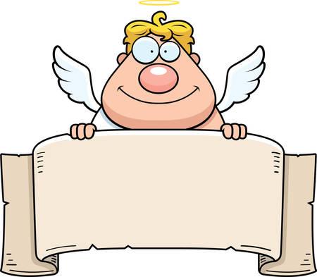 종이 천지와 만화 천사입니다. 일러스트