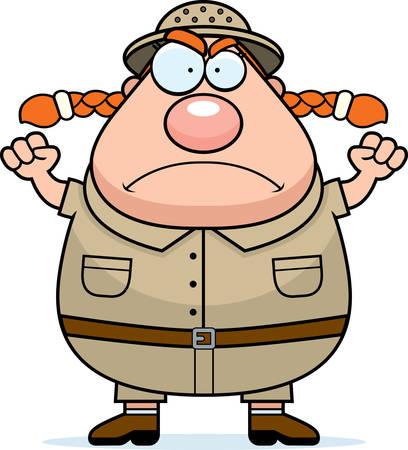 エクスプ ローラーの漫画怒りの表現を持つ。  イラスト・ベクター素材