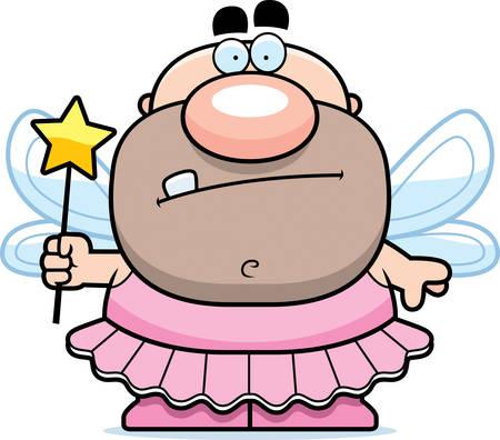 tutu: A cartoon Tooth Fairy man in a tutu.